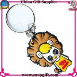 Le GV a apuré le trousseau de clés de produit d'usine de la Chine pour le cadeau en plastique de chaîne principale