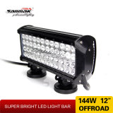 Barra clara do diodo emissor de luz da fileira do CREE IP67 144W Trible Offroad