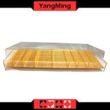 덮개 카지노 칩 상자 Ym-CT04를 가진 아크릴 투명한 부지깽이 칩 쟁반