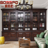 Office Boocase Corner Large Bookcase with Doors (GSP18-034)