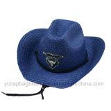 Dos chapéus por atacado baratos dos homens da forma chapéu de palha de papel do vaqueiro