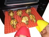 Mini guantes del silicón del mitón del horno