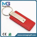 Cuero Keychain del espacio en blanco del fabricante del Keyring de China