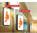 Caixa antigravitante transparente do telefone móvel para o iPhone e para Samsung