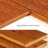 Plancher en bois de couleur de souillure de Handscrpaed de plancher de chêne blanc pour le bois dur