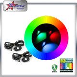 4/6/8/12의 깍지 LED 바위 빛 장비 RGB 색깔 변하기 쉬워 Bluetooth 통제 음악 섬광 Offroad LED 바위 빛