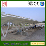 Tensile PVDF Membrane Car Parking Steel Structure Canopy