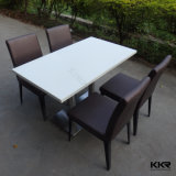 固体表面のレストランのダイニングテーブルおよび椅子