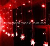 Het in het groot LEIDENE van de Decoratie van het Venster van Kerstmis Licht van het Gordijn met Ster