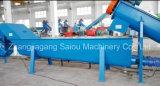 Plastique de rebut d'animal familier écrasant le lavage réutilisant le matériel de machine