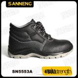 De industriële Schoenen van de Veiligheid van het Leer met Nieuwe Zool PU/PU (Sn5553)