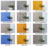 Freier Raum und farbiges dargestelltes Glas, Muster-Glas