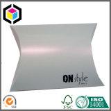 Коробка лоснистой подушки шарфа логоса серебра цвета бумажная упаковывая