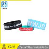 Bandes de poignet faites sur commande de silicium de logo de sport coloré