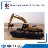Escavatore anfibio della Cina con 3 catene e 2 unità dei pontoni