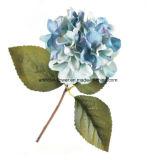 Flor artificial barato real tacto seda blanca Hortensia, Hydrangea azul de seda artificial