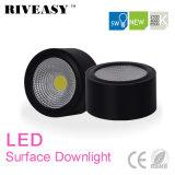 iluminação preta montada superfície do diodo emissor de luz de Downlight da ESPIGA do diodo emissor de luz 5W