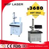 máquina de escritorio de la etiqueta de plástico del laser de la fibra 20W para el metal/las placas de acero/plástico