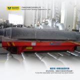 Coche de transferencia plano funcionado de la fábrica del carril del uso de la industria pesada del carrete de cable