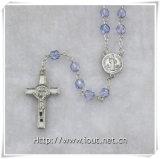 Il rosario caldo di alta qualità di vendita borda la collana trasversale delle catene religiose di stile (IO-cr350)