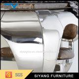 よい価格のステンレス鋼フレームの大理石のダイニングテーブル