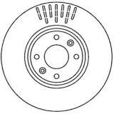 Disque de frein substitué par OEM de pièces d'automobile