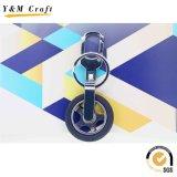 Os presentes de Prpmotional personalizaram o anel chave do metal redondo do logotipo 3D