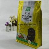 Hundenahrungsmittelkunststoffgehäuse-Beutel mit Reißverschluss