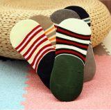 Britische Art Streifen-in den unsichtbaren rutschfesten Non-Slippery Griff-Socken
