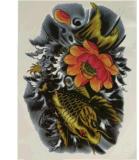 Etiqueta engomada temporal impermeable del tatuaje de la carpa del tótem colorido del modelo
