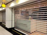 小売店/商業店のプラスチック/水晶/ポリカーボネートの透過ローラーシャッタードア