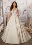 2017 ouverts élégants lacent en arrière la robe de mariage nuptiale Wd501