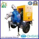 Bomba de água de esgoto centrífuga de escorvamento automático Soundproof do motor Diesel
