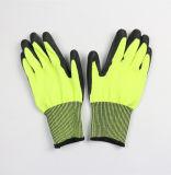Перчатки Nitirle цвета флуоресцирования Coated