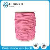 Corde faite sur commande tressée de polyester élastique coloré de type