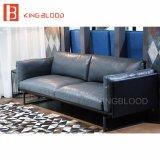 Echtes Leder-Sofa graue Farben-modernes Italien-Nappa für Wohnzimmer-Möbel