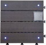 Azulejo ligero solar del Decking del panel del certificado WPC del Ce para el jardín