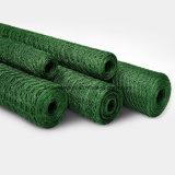 60X80mm 녹색 PVC 입히는 6각형 치킨 와이어 그물세공
