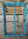 内部及び外面で薄板になる木製の穀物のフィルムとのコンシュUPVCのプロフィール