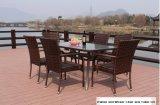 일요일 우산으로 차리는 대나무 의자 및 식탁