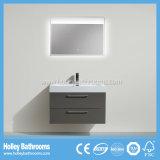 Beste verkaufende an der Wand befestigte Badezimmer-Eitelkeit mit LED-Spiegel und 2 Fächern