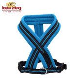 Harnais de crabot d'animal familier de doux et de confort/nylon r3fléchissants de qualité (KC0105)