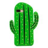 iPhoneのための3Dシリコーンのサボテンデザイン電話裏表紙