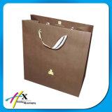 Bianco & sacchetto dell'imballaggio del documento della maniglia di torsione del Brown Kraft
