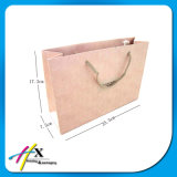 White & Brown Kraft giro manija bolsa de embalaje de papel