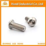 Tornillo de socket Hex de la pista del botón del acero inoxidable M10