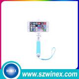 Palillo de moda de Selfie con el control mini Monopod atado con alambre de Bluetooth