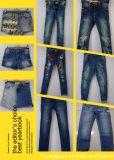 Falda azul clara del dril de algodón para las muchachas (IBG16-6101)