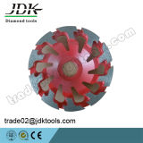 Outils de meulage concrets de roue de cuvette de diamant de JDK 100-180mm