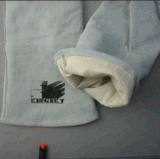 De grijze Handschoen van het Lassen van het Leer van de Koe Gespleten (6504)